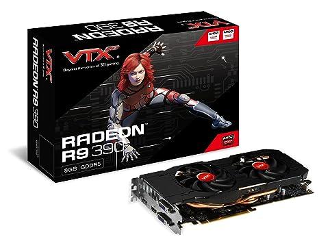 VTX3D AMD Tarjeta gráfica Radeon R9 390 (8 GB, GDDR5, PCI Express 3,0, 2 x DVI-D, HDMI, Puerto de Pantalla, 512 bit)