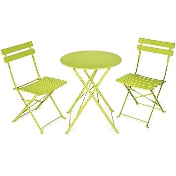 Vanage - Table Bistro avec chaises - Table et chaises pliantes ...
