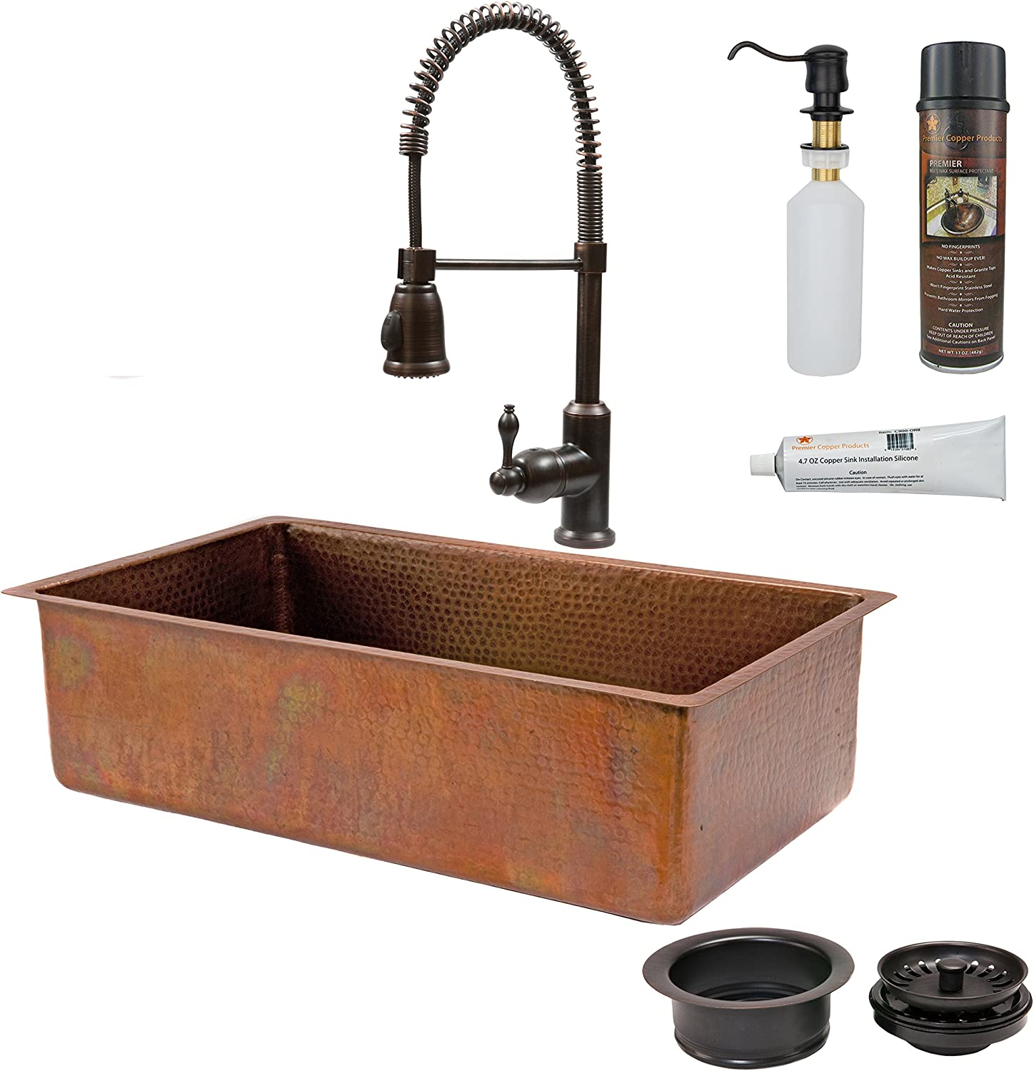 Amazon Com 33 X 19 Basin Kitchen Sink With Faucet Kitchen Dining
