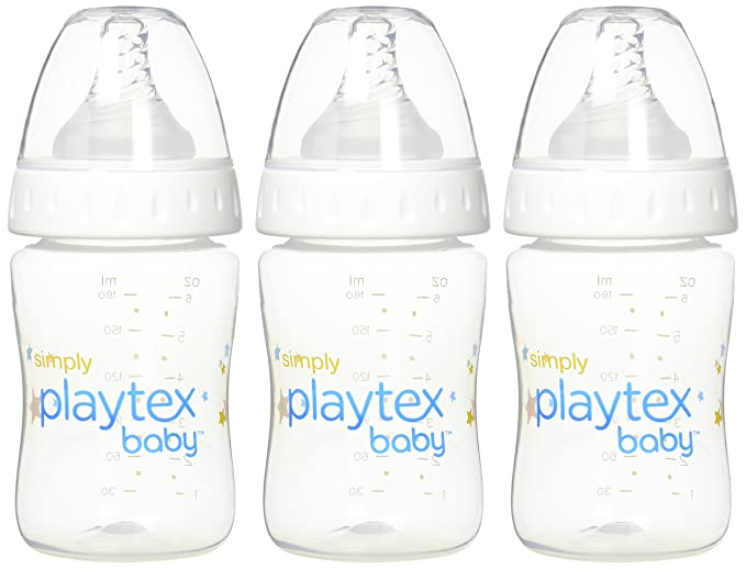 NEW Simply Playtex BPA Free Baby Bottles 9 Ounce  3 Pack FREE SHIPPING