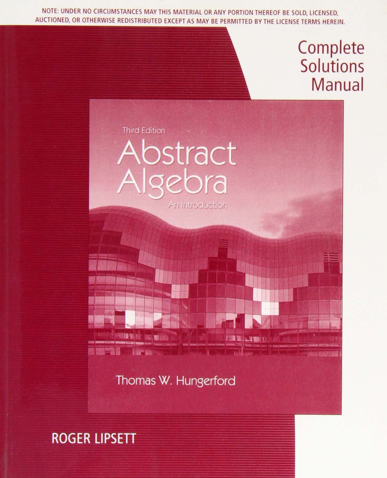 complete solutions manual for hungerford 9781133611233 amazon com rh amazon com Solution of Equations in Algebra hungerford abstract algebra solution manual