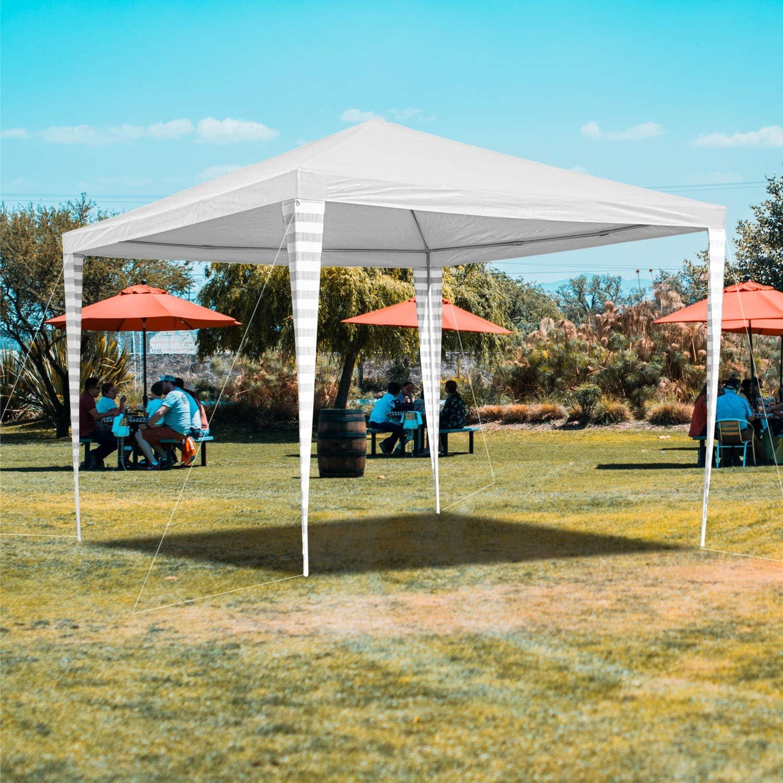 Hengda - Cenador de jardín (3 x 3 m) - Toldo para Fiestas de protección UV - Tienda de campaña para Exteriores, Boda, jardín, Fiesta, Camping, fácil de Instalar, Blanco: Amazon.es: Jardín