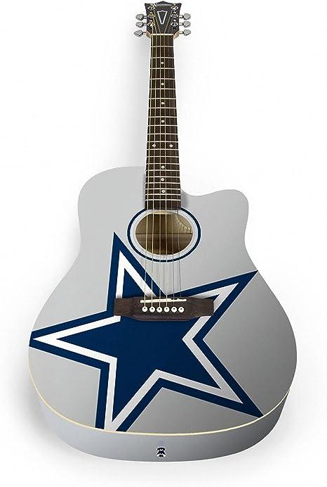 Guitarra acústica Woodrow por The Sports Vault NFL Dallas Cowboys ...