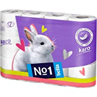 Bella India No1 Karo White Toilet Tissue Roll - 12 Rolls