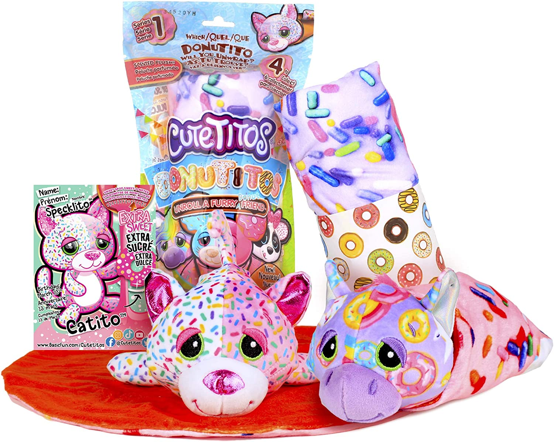 Basic Fun Cutetitos Donutitos - Surprise Stuffed Animals - Collectible Scented Plush - Ages 3+