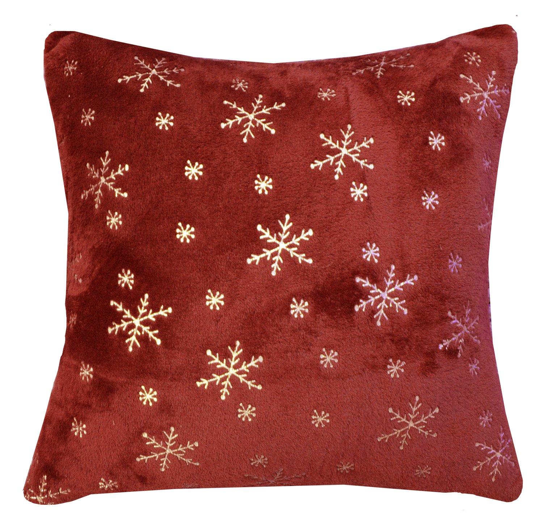 Lady Sandra Home Fashions Snowflake Holiday Throw Blanket And Pillow Set
