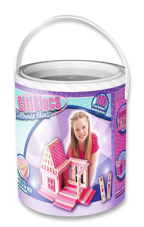 descuento CitiBlocs 110-Piece 110-Piece 110-Piece Pretty in Pink Doll House Set by CitiBlocs  ventas directas de fábrica