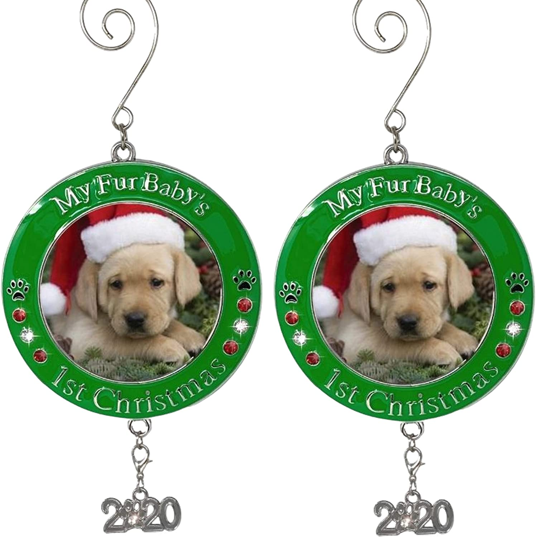 Christmas 2020 Charm Amazon.com: BANBERRY DESIGNS Pet's First Christmas 2020   Photo