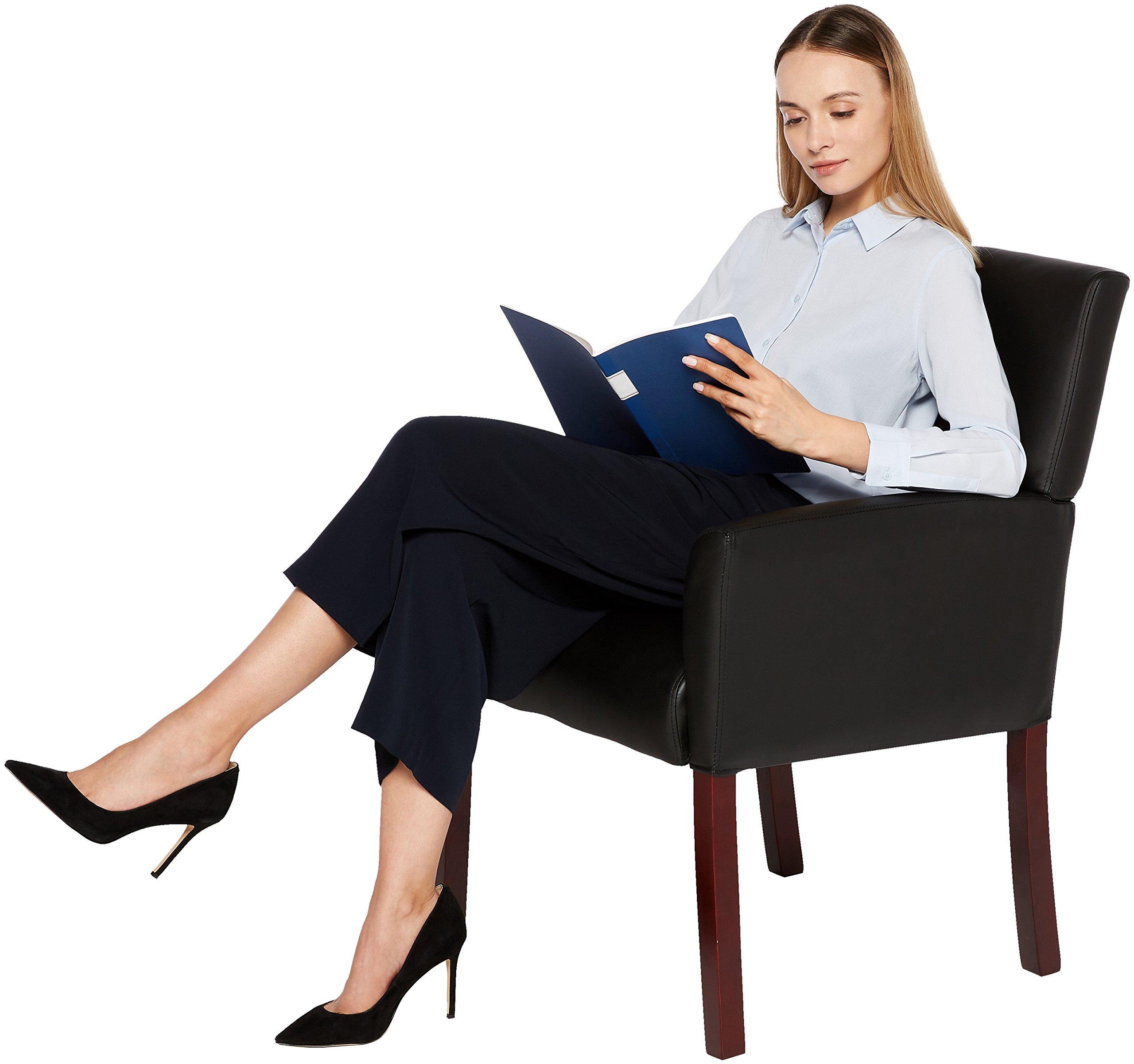 AmazonBasics Reception Chair, Black by AmazonBasics (Image #2)