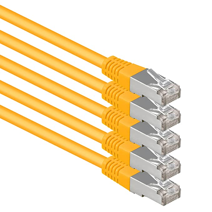 13 opinioni per 1aTTack.de® 10m- amarillo- 5 Stück- CAT6 CAT 6 Ethernet LAN cable de red SET
