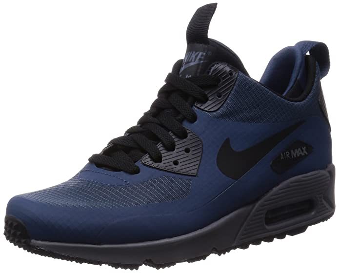 8b1bbebd9a184 Amazon.com | NIKE 806808-400 Men AIR Max 90 MID Winter Squadron Blue/Dark  Grey/Black | Athletic
