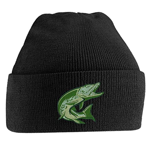 dd19dc08edcb0 Bang Tidy Clothing Fishing Beanie Hat Knit Cap Beanies Embroidered Pike  Fish Hats Gifts for Men