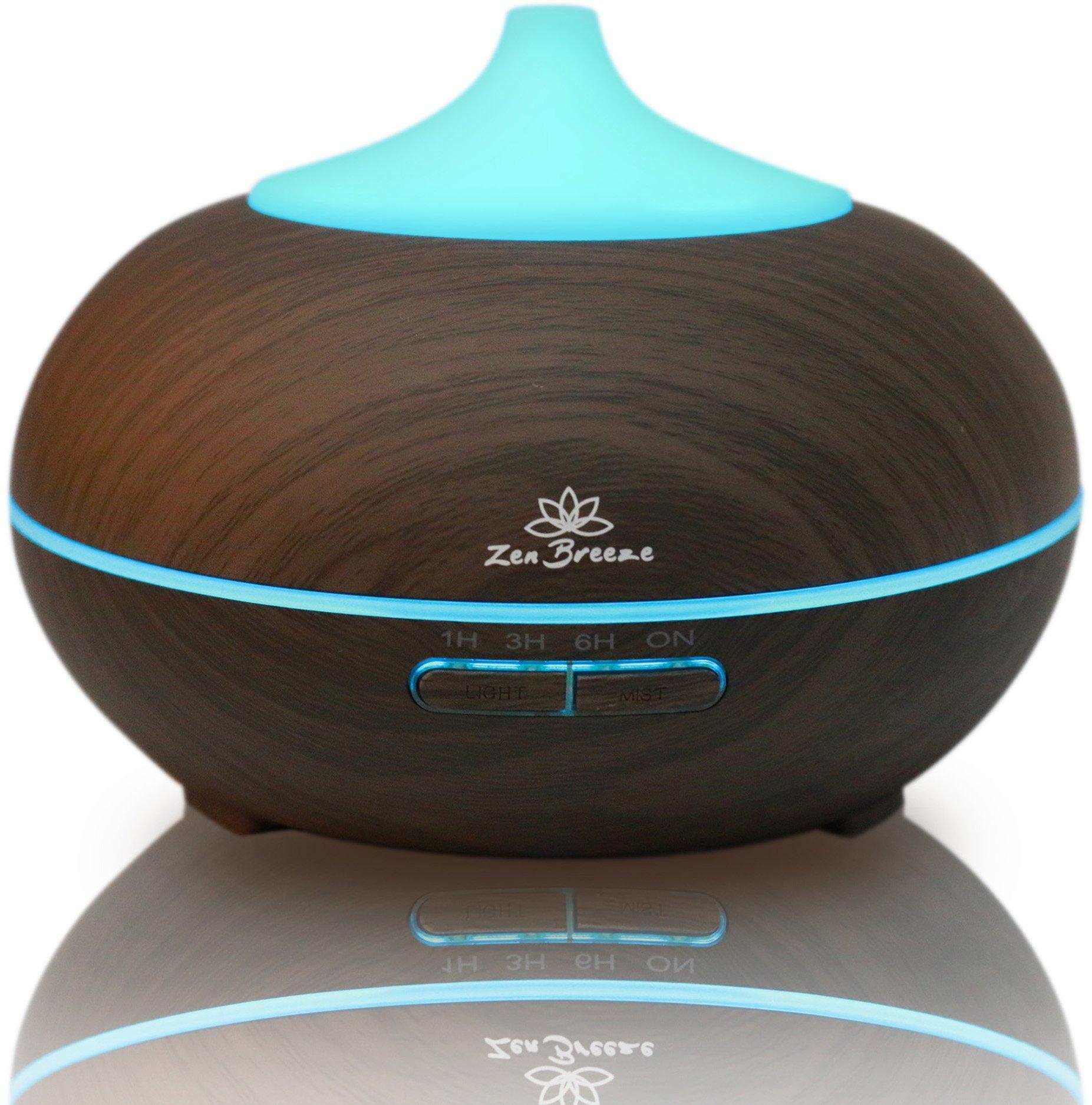 Zen Breeze Essential Oil Diffuser Dark Wood - Aromatherapy Diffuser - Birthday Gift Edition by Zen Breeze