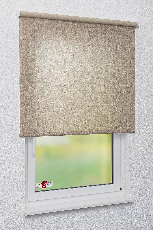 LYSEL Rollo Grande S28, (B x H) 90cm x 175cm in Braun beigegrau