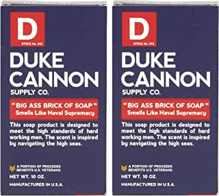 product image for Duke Cannon Supply Co. - Big Ass Brick of Soap, Smells Like Naval Supremacy (2 Pack of 10 oz) Superior Grade Masculine Scent Bar Soap Designed for Hardworking Men - Refreshing Ocean