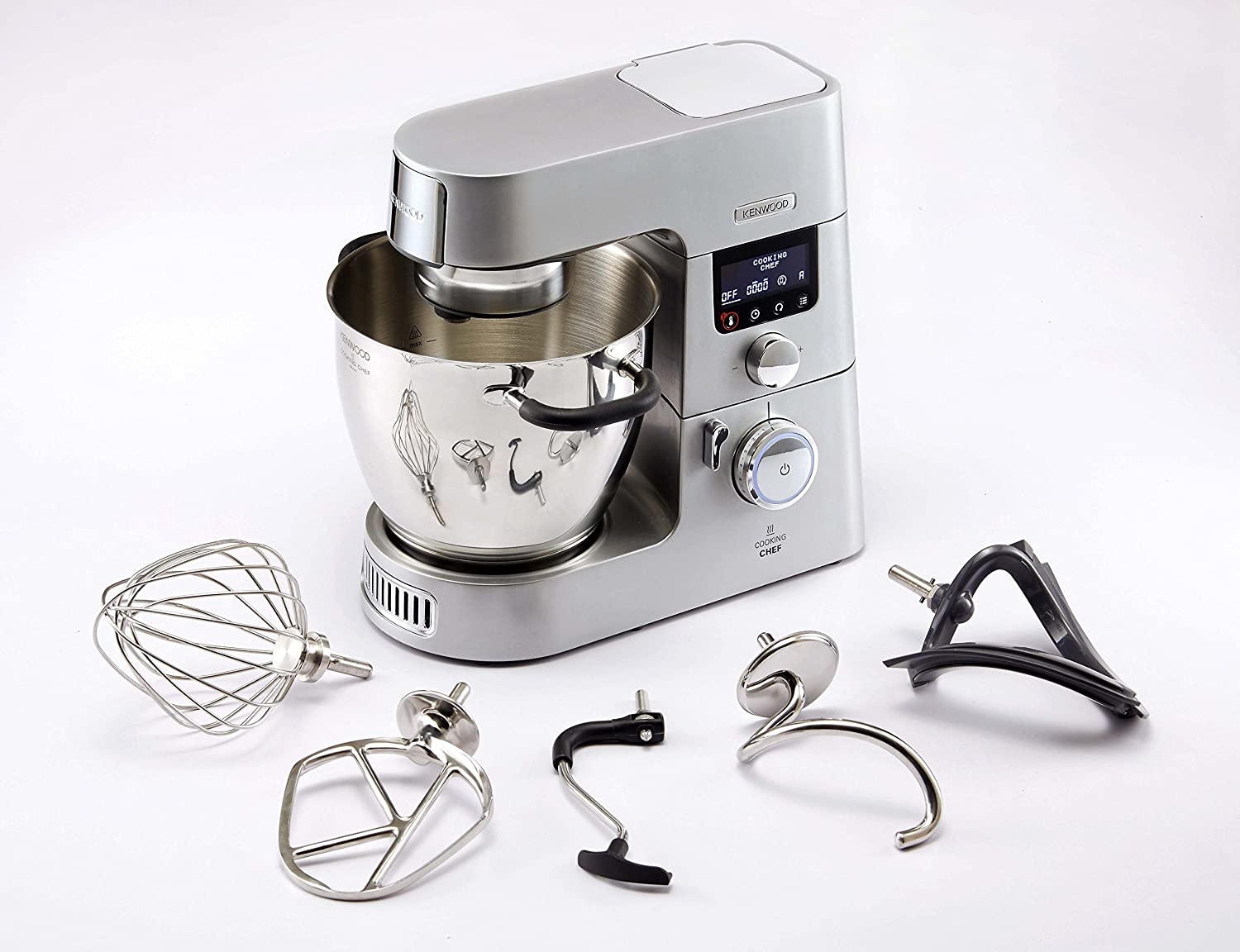 Kenwood KCC9060S Cooking Chef Gourmet, 1500 W, 6.7 Litri, Argento ...