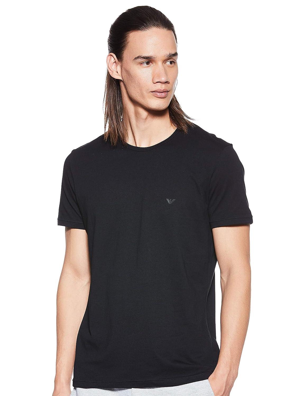 Emporio Armani Mens Cotton Crew Neck T-Shirt, 3-Pack, Black, Medium: Amazon.es: Ropa y accesorios