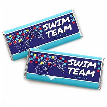 34e60980e6 Amazon.com: Making Waves - Swim Team - Candy Bar Wrapper Swimming ...