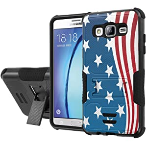 Galaxy [On5] Armor Case [NakedShield] [Black/Black] Urban Shockproof Defender [Kick Stand] - [USA] for Samsung Galaxy [On5]