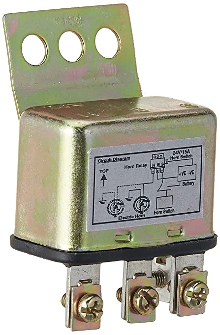 UNO MINDA 850085 Horn Relay - 3 Pin - (Steel ) - 24V/15A on