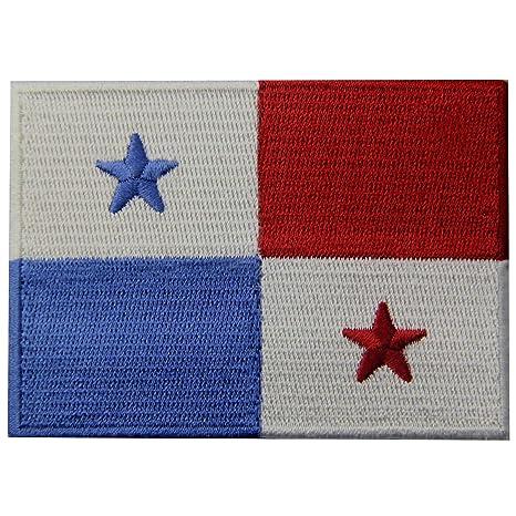 Bandera de Panamá Panameño Emblema nacional Parche Bordado de Aplicación con Plancha