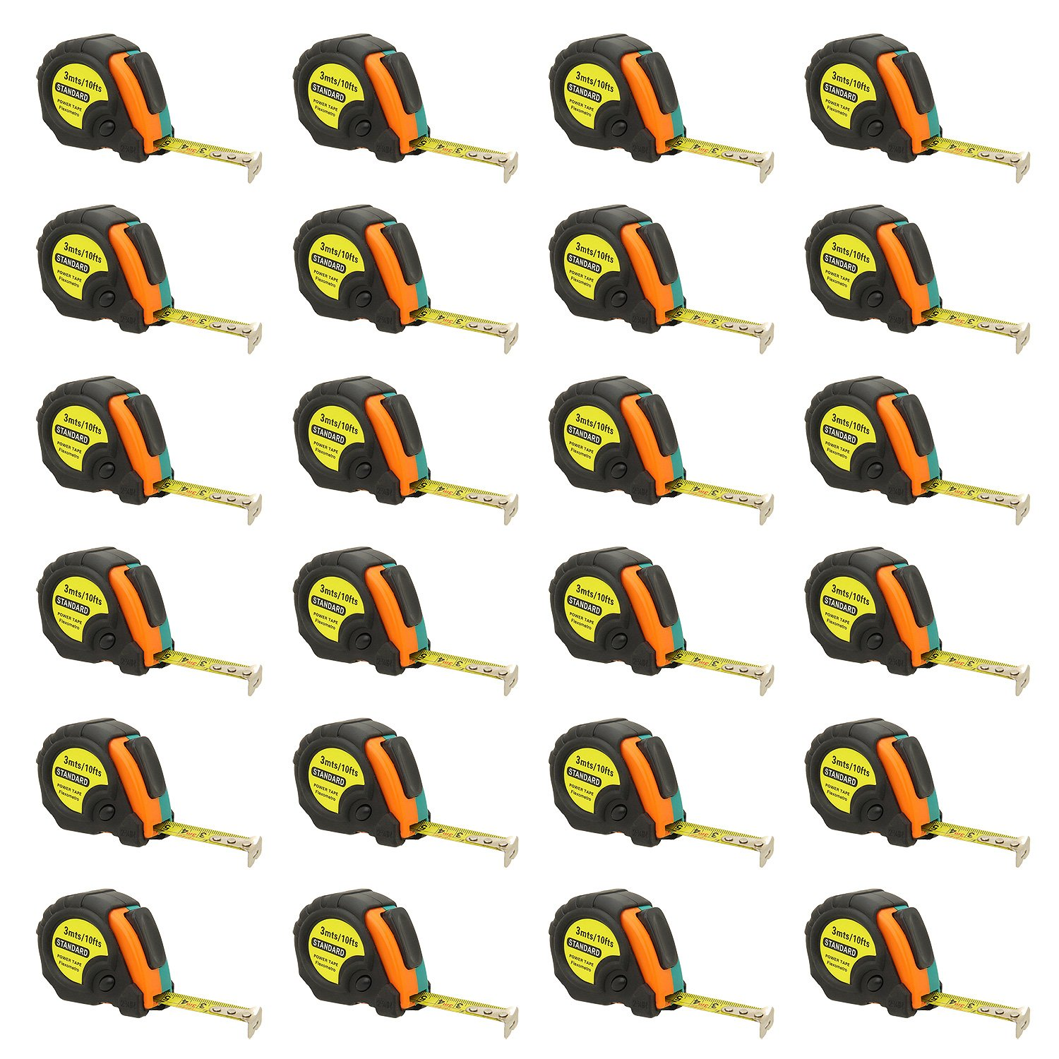 10ft Power Tape Measure Auto Lock (10-Foot 24-Pack)