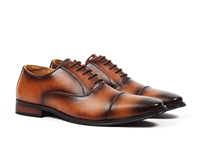 d41496f8c1a25 Santino Luciano Enzo Men's Cap-Toe Oxford Dress Shoes