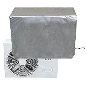"""CLAIRLA - Air Conditioner Waterproof Cover for ac Outdoor Unit, AC Condensing HVAC Unit Winter line Set Covers, Slim Duct Hide Cover kit (37.8""""x34.2""""x15""""inch)"""