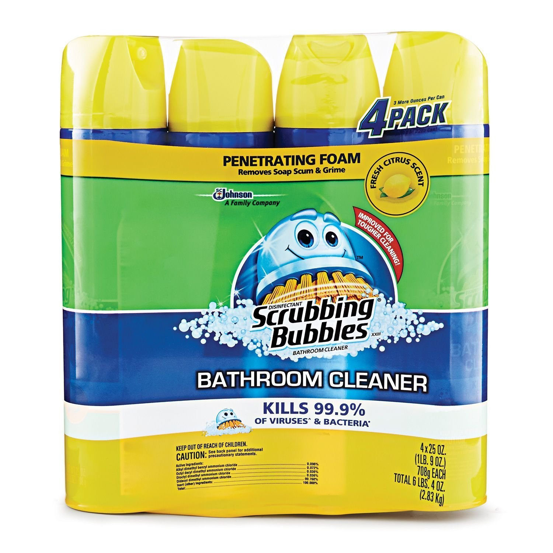 Amazoncom Scrubbing Bubbles Lemon Foaming Bathroom Cleaner Oz - What is the best bathroom cleaner