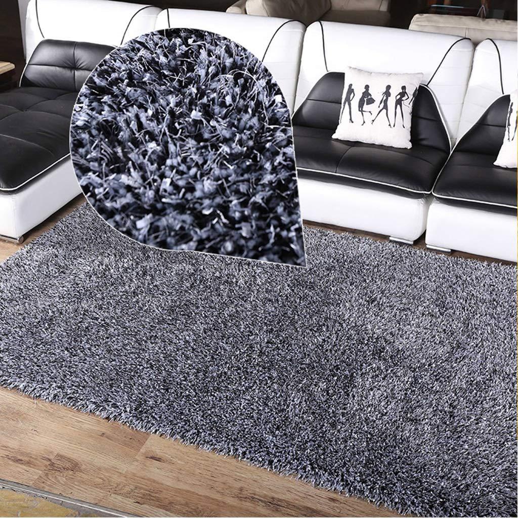 LUYIASI- Shaggy Area Rug Lit de chambre à coucher pour enfants Tapis de sol Tapis de fête antidérapant pour machine à laver en machine, Épaisseur: 50mm Non-slip mat (Couleur : Gray-140x200cm)