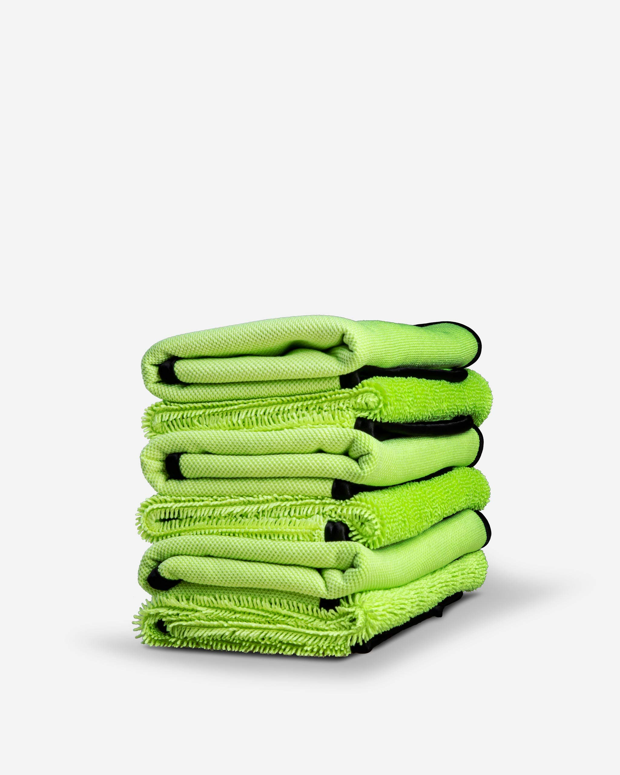 Adam's Microfiber Glass Cleaning Towel - Two Sided, Streak Free Glass Cleaning Towel - Soft Satin Stitched Edges 540 GSM (6 Pack)