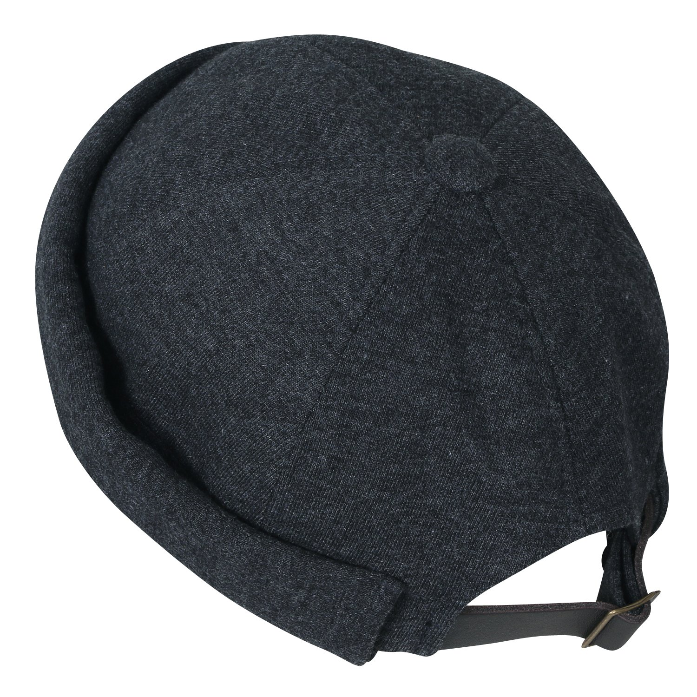ililily Solid Color Cotton Short Beanie Strap Back Casual Hat Soft Cap, Dark Grey by ililily (Image #2)