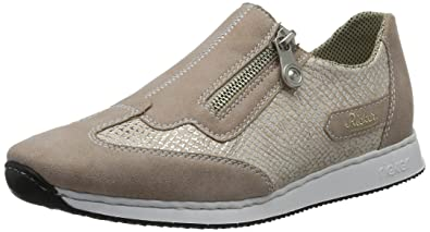 Womens 56061 Loafers, Grey (Silver), 3.5 UK Rieker