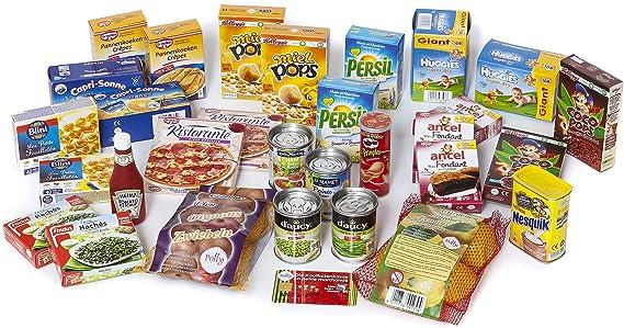 Polly - Juego de Accesorios para Tienda de Juguete para niños, Incluye latas, Cacao, Limones, Cebolla, rebanadas, Ketchup y Dulces Cajas en Miniatura: Amazon.es: Juguetes y juegos