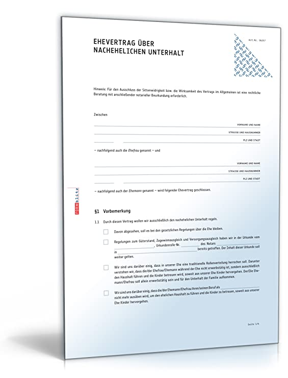 Ehevertrag Nachehelicher Unterhalt Pdf Download Amazonde Software