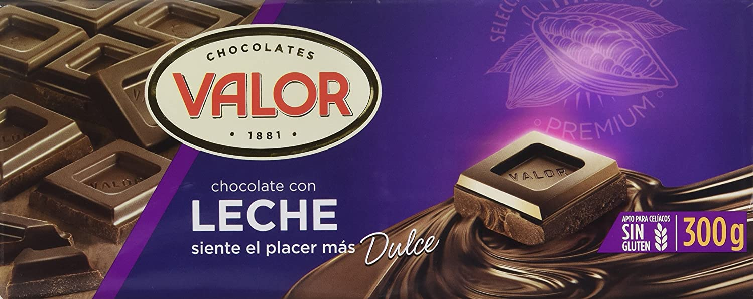 Valor - Chocolate con leche, 1 x 300 g - [Pack de 20]: Amazon.es: Alimentación y bebidas