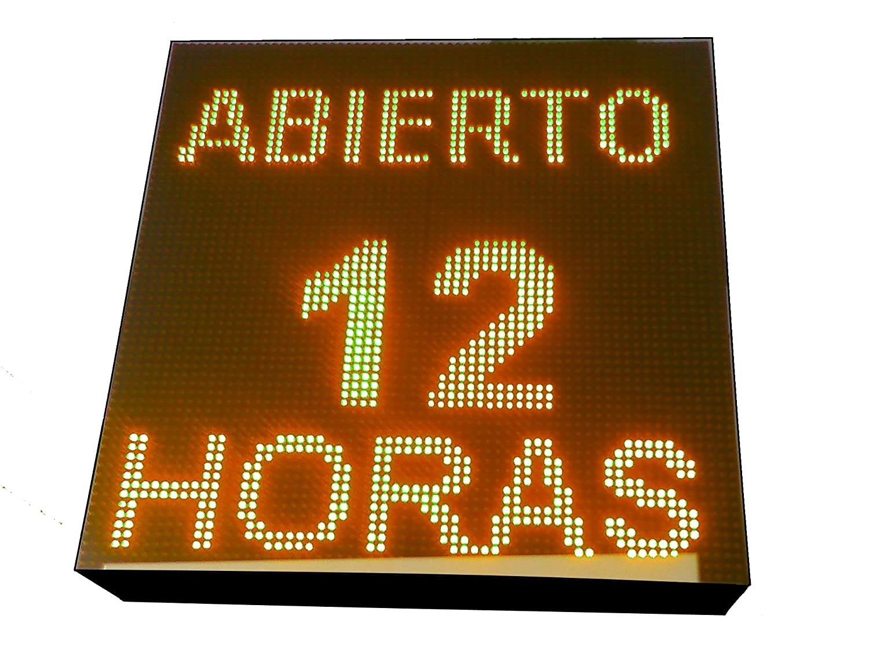 CARTEL LED PROGRAMABLE LETRERO LED PROGRAMABLE PANTALLA LED PROGRAMABLE (64 * 64 cm, NARANJA ÁMBAR) ROTULO LED PROGRAMABLE CARTEL ELECTRÓNICO ANUNCIA ...
