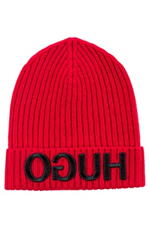 edc1e55b2e876b Image Unavailable. Image not available for. Color: Hugo Boss Unisex-X 537 Red  Wool Beanie Cap ...