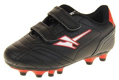 competitive price 102e8 000b0 Gola Garçons Filles Chaussures de Football Astro Turf Enfants Crampons de  Football Noir et Rouge EU