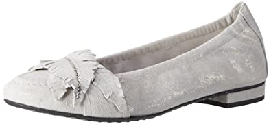 Kennel und Schmenger Schuhmanufaktur Damen Malu Geschlossene Ballerinas, Grau (Stone/Silver), 36 EU