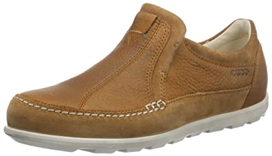 Ecco Footwear Womens Cayla Slip On Flat, Amber, 35 EU/4-4.5