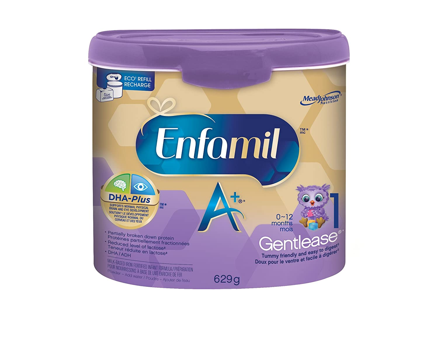 Enfamil A+ Gentlease Infant Formula, Single Serve Powder, 17.4g, 16 packets