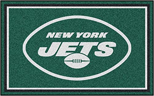 FANMATS NFL New York Jets Nylon Face 4X6 Plush Rug