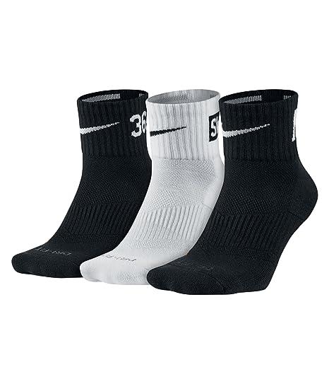 Nike – 3PPK Dri-fit cojín cuarto calcetines # sx4835 – 001 - -