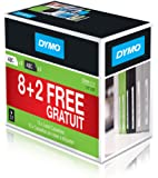 Dymo D1 Pack de 10 Rubans d'étiquetage 12 mm x 7 m Noir/Blanc