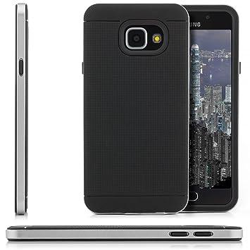 Saxonia Funda Samsung Galaxy A3 (2016) Cubierta Funda Premium Carcasa Case [Ultra Hybrid] Slim Back Cover Silicona y TPU con Protección Borde (Bumper) ...