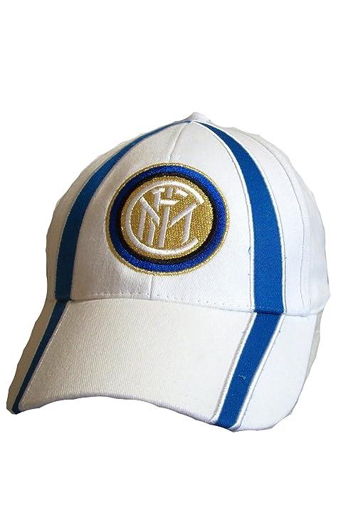 CAPPELLO CAPPELLINO INTER UFFICIALE BERRETTO CAP con VISIERA (BIANCO ... 59372d861201