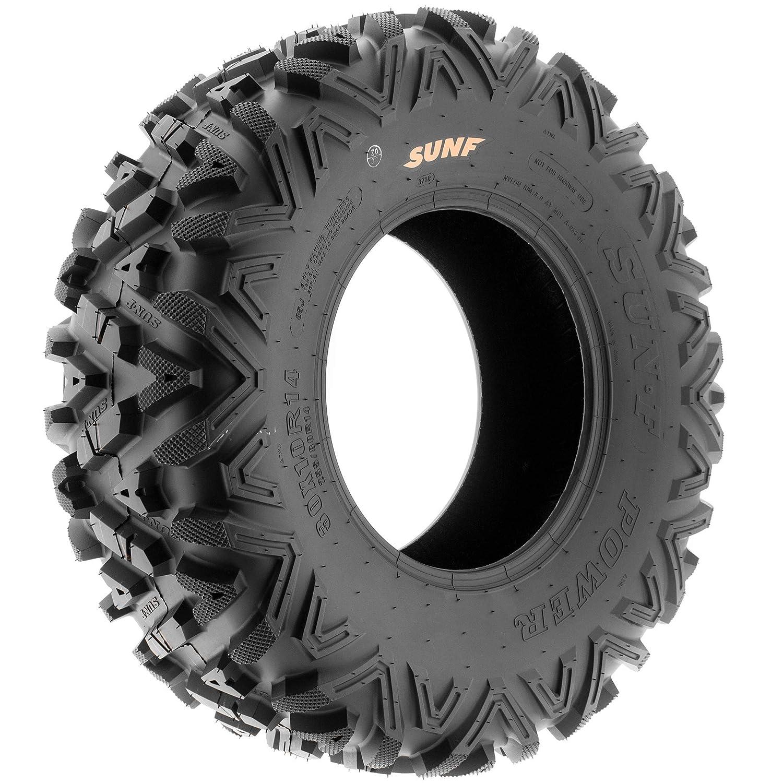 Set of 2 SunF 22x10-12 22x10x12 ATV UTV A//T Replacement Race 6 PR Tubeless Tires A033 POWER I,