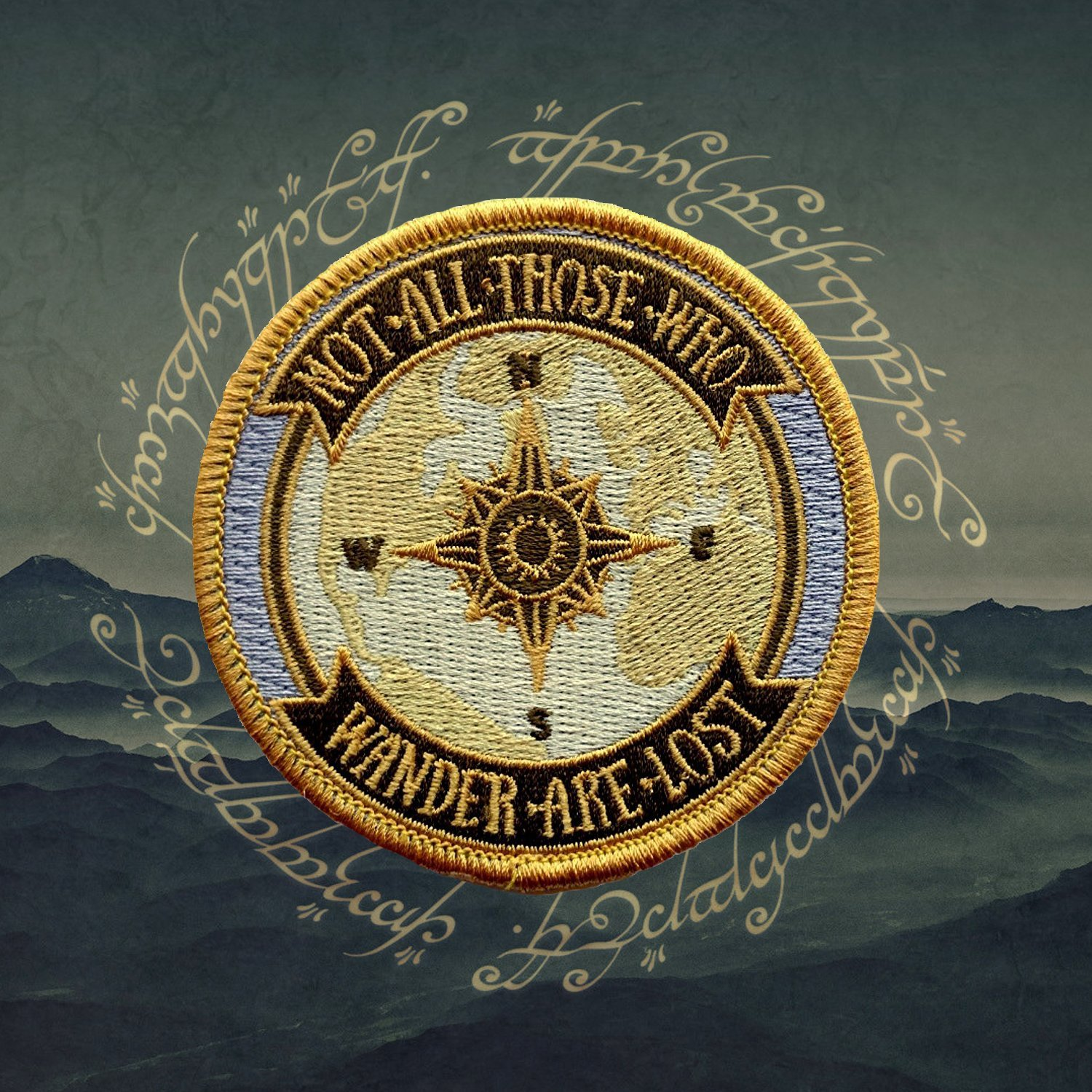 O'Houlihans - Not All Those Who Wander Are Lost - Lord of the Rings Patch O'Houlihans