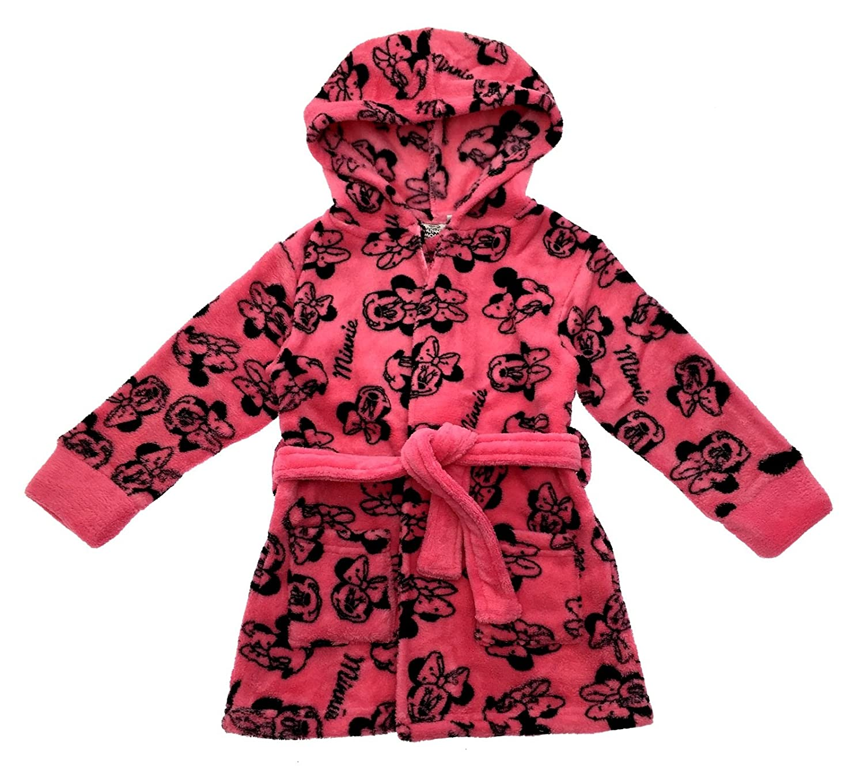 Disney Minnie Mouse Fleece Bath Robe 4: Amazon.co.uk: Clothing